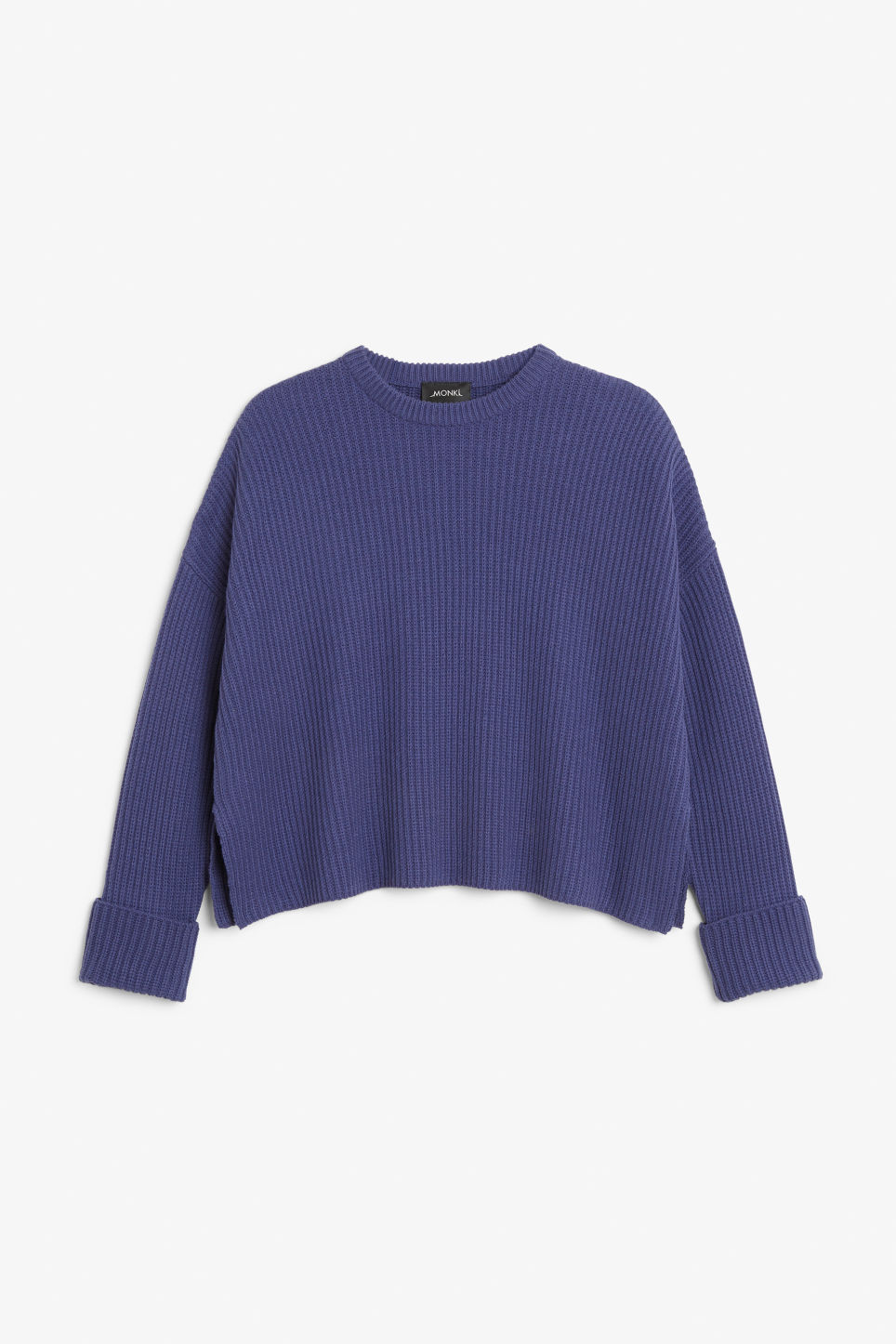 Front image of Monki knit sweater in blue