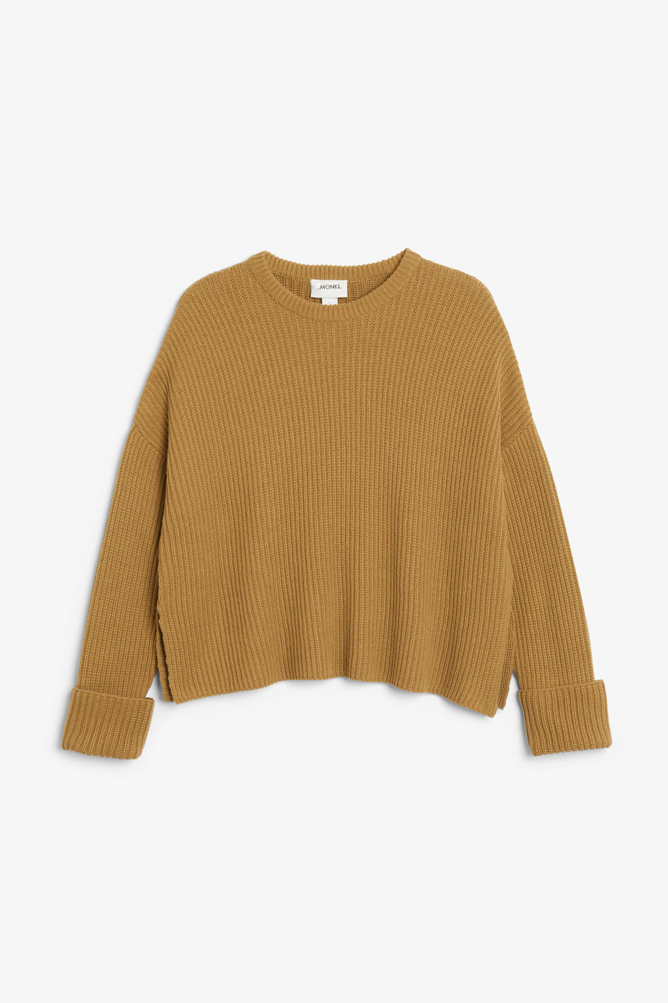 Front image of Monki knit sweater in beige