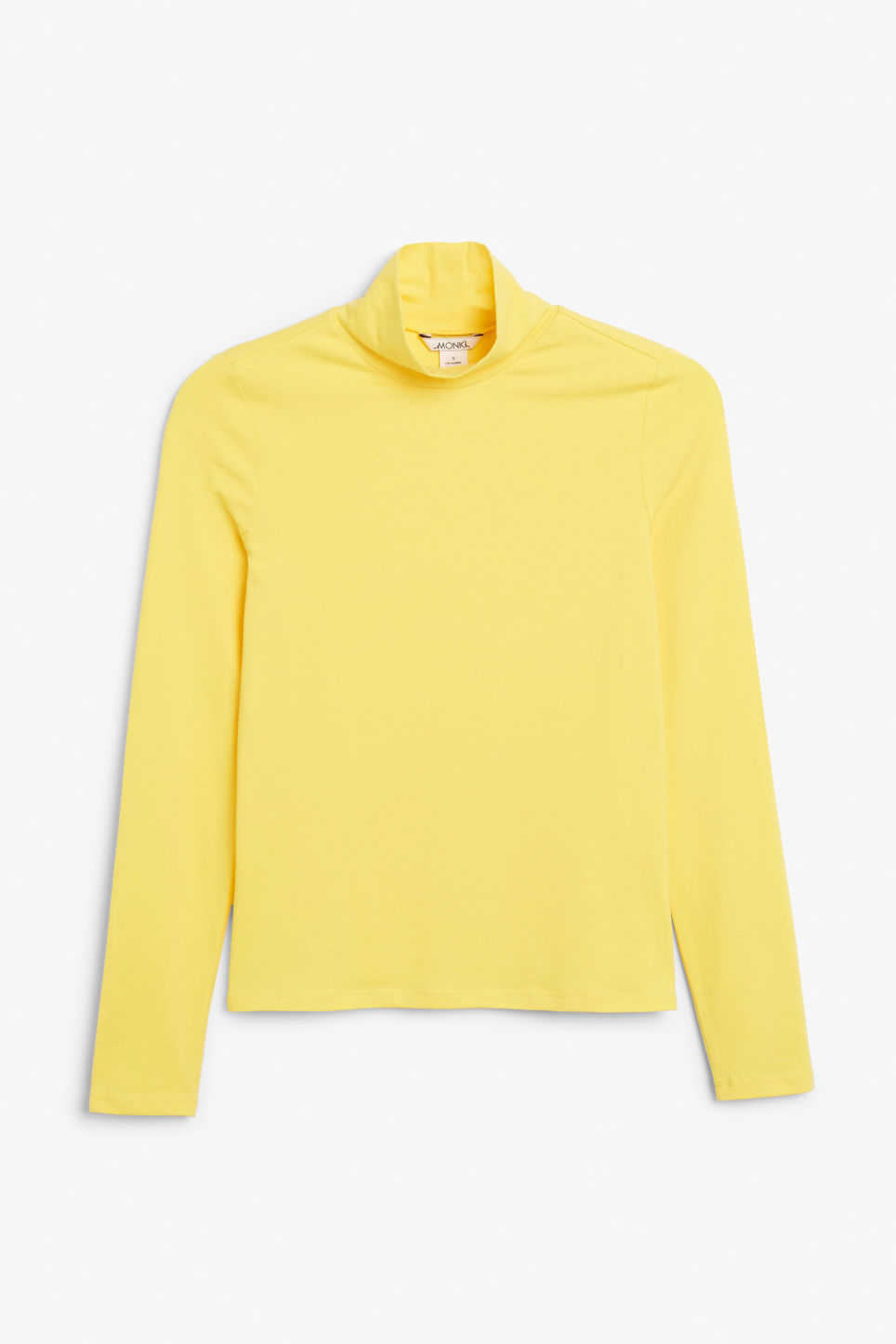 Front image of Monki long-sleeved top in yellow