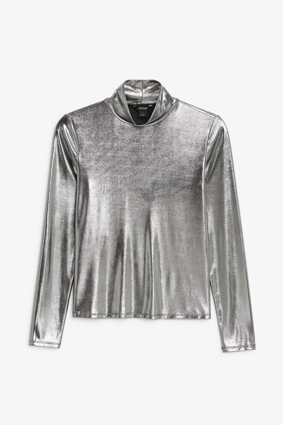 Front image of Monki long-sleeved turtleneck in grey