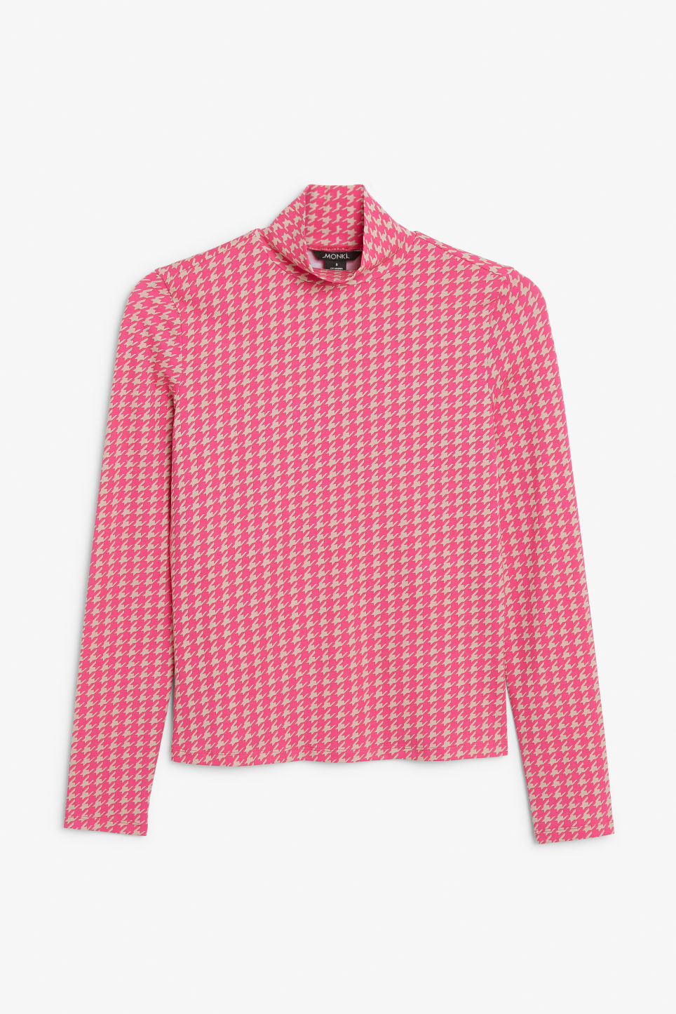 Front image of Monki long-sleeved turtleneck in pink