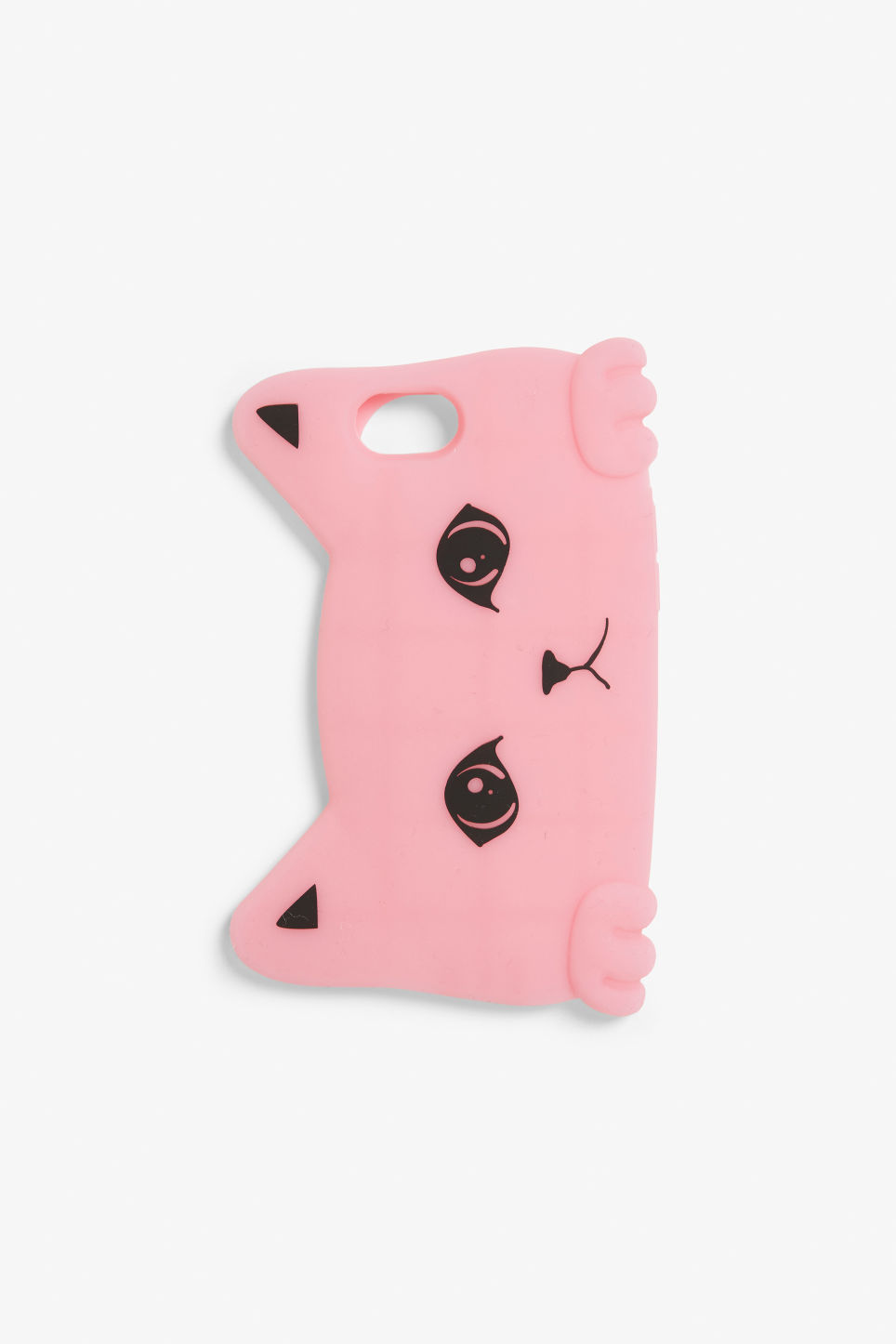 Front image of Monki phone case in pink