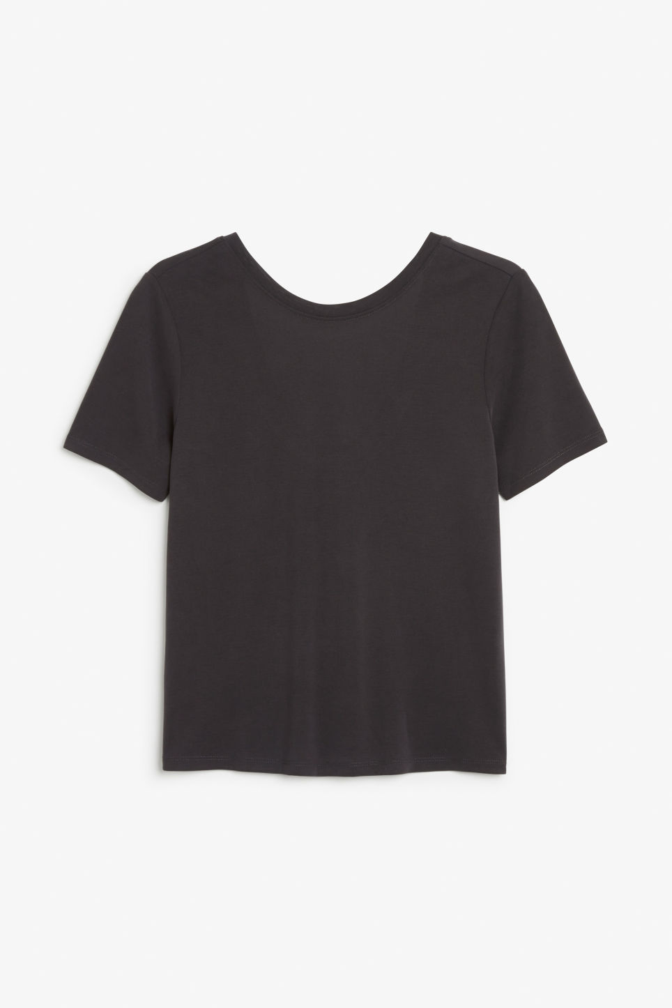 Front image of Monki super-soft comfy tee in black