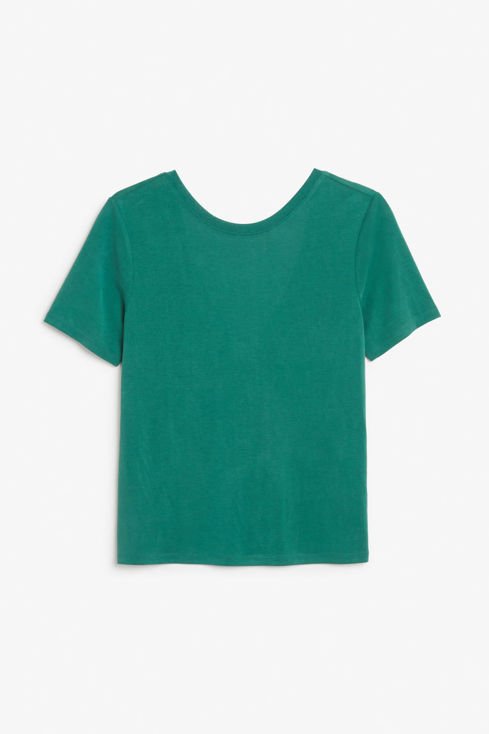 Front image of Monki super-soft comfy tee in green