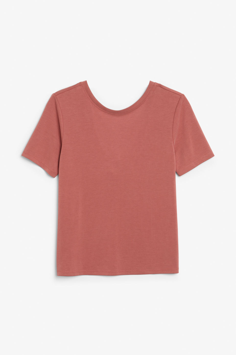 Front image of Monki super-soft comfy tee in orange