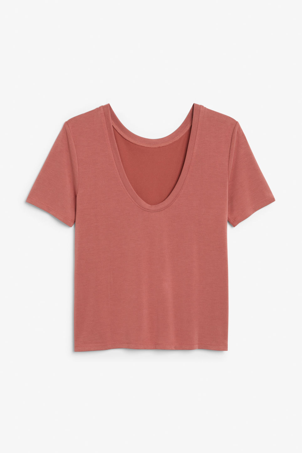 Back image of Monki super-soft comfy tee in orange
