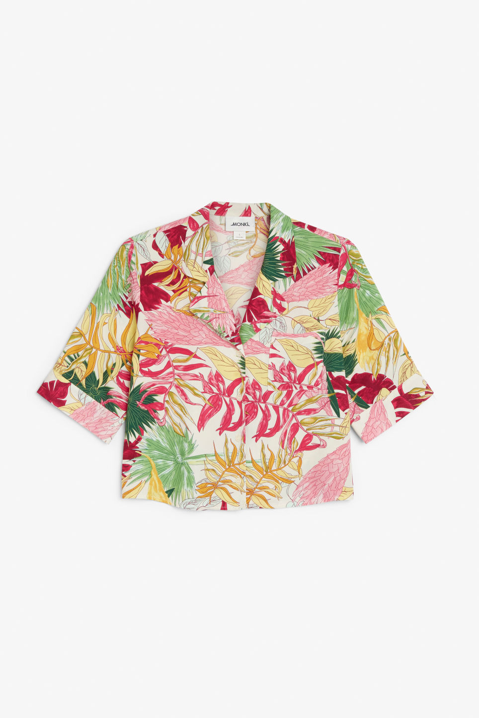 Front image of Monki button-up blouse in white