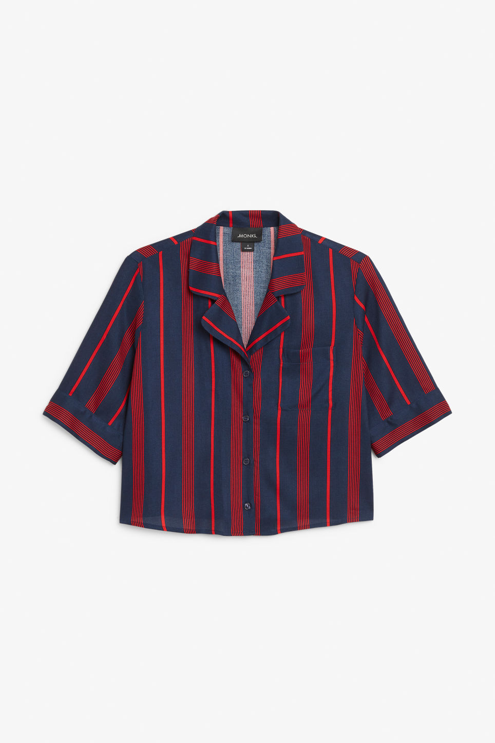 Front image of Monki button-up blouse in blue