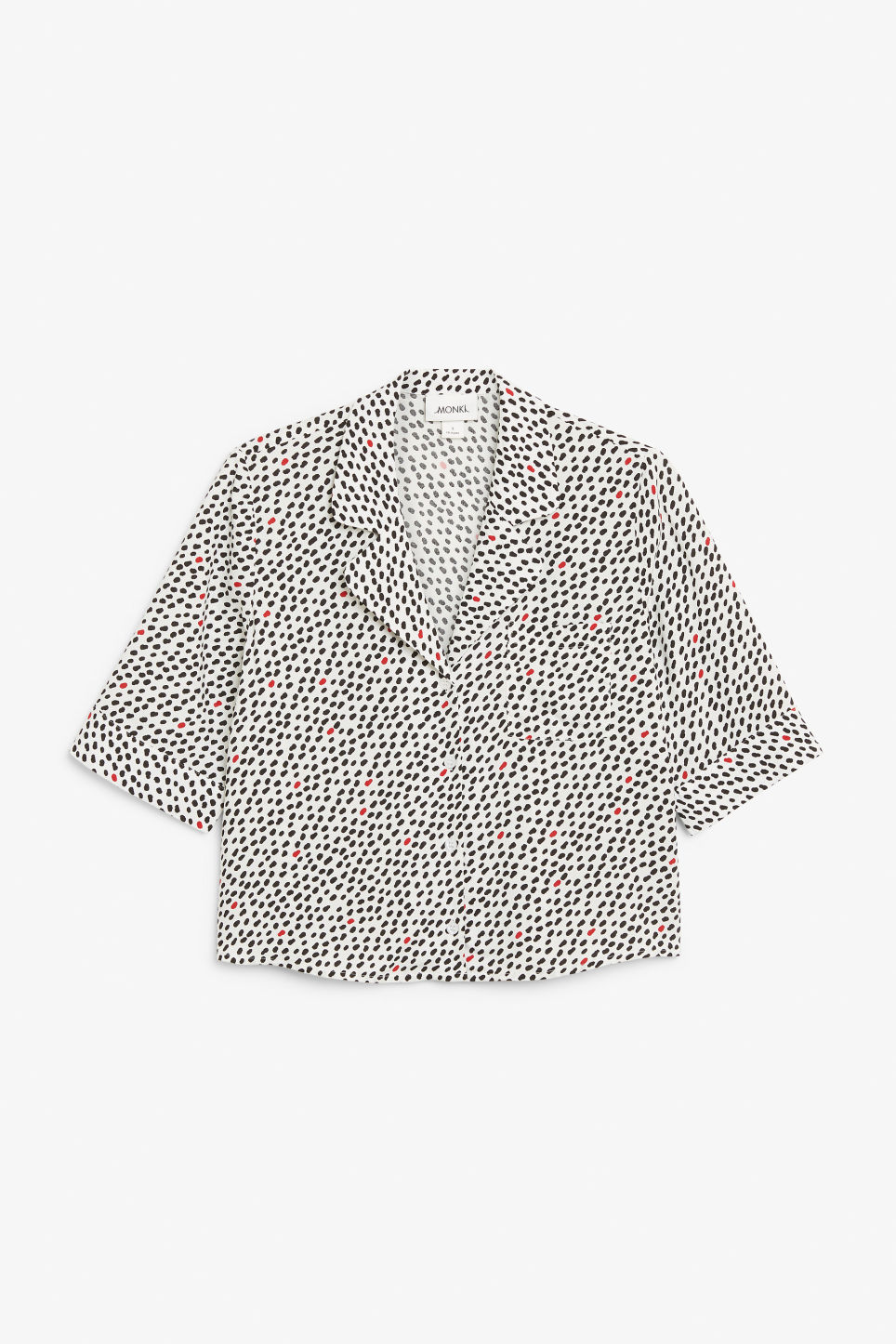Front image of Monki button-up blouse in beige