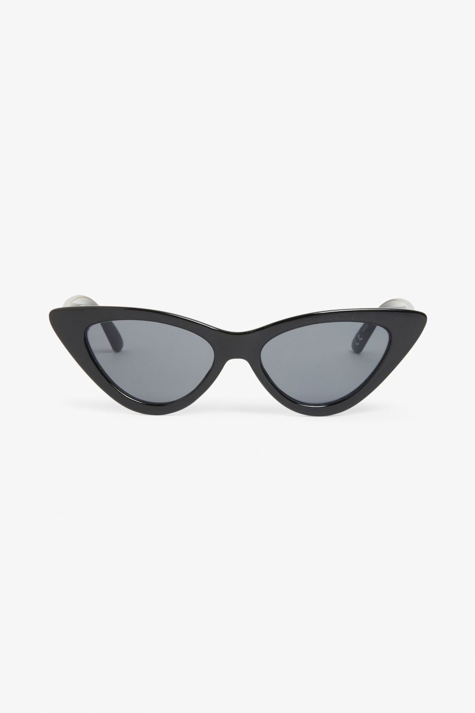 Front image of Monki cat eye sunglasses in black