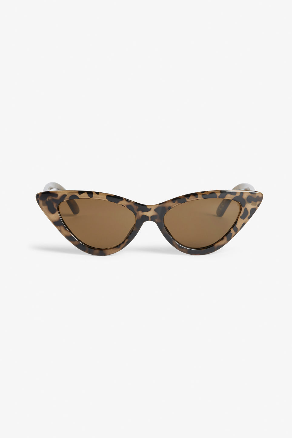 Front image of Monki cat eye sunglasses in orange