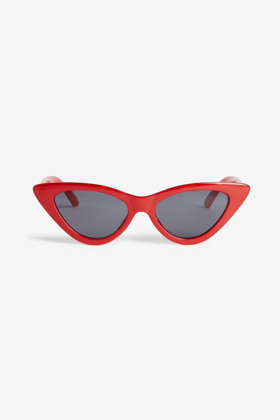 Front image of Monki cat eye sunglasses in red