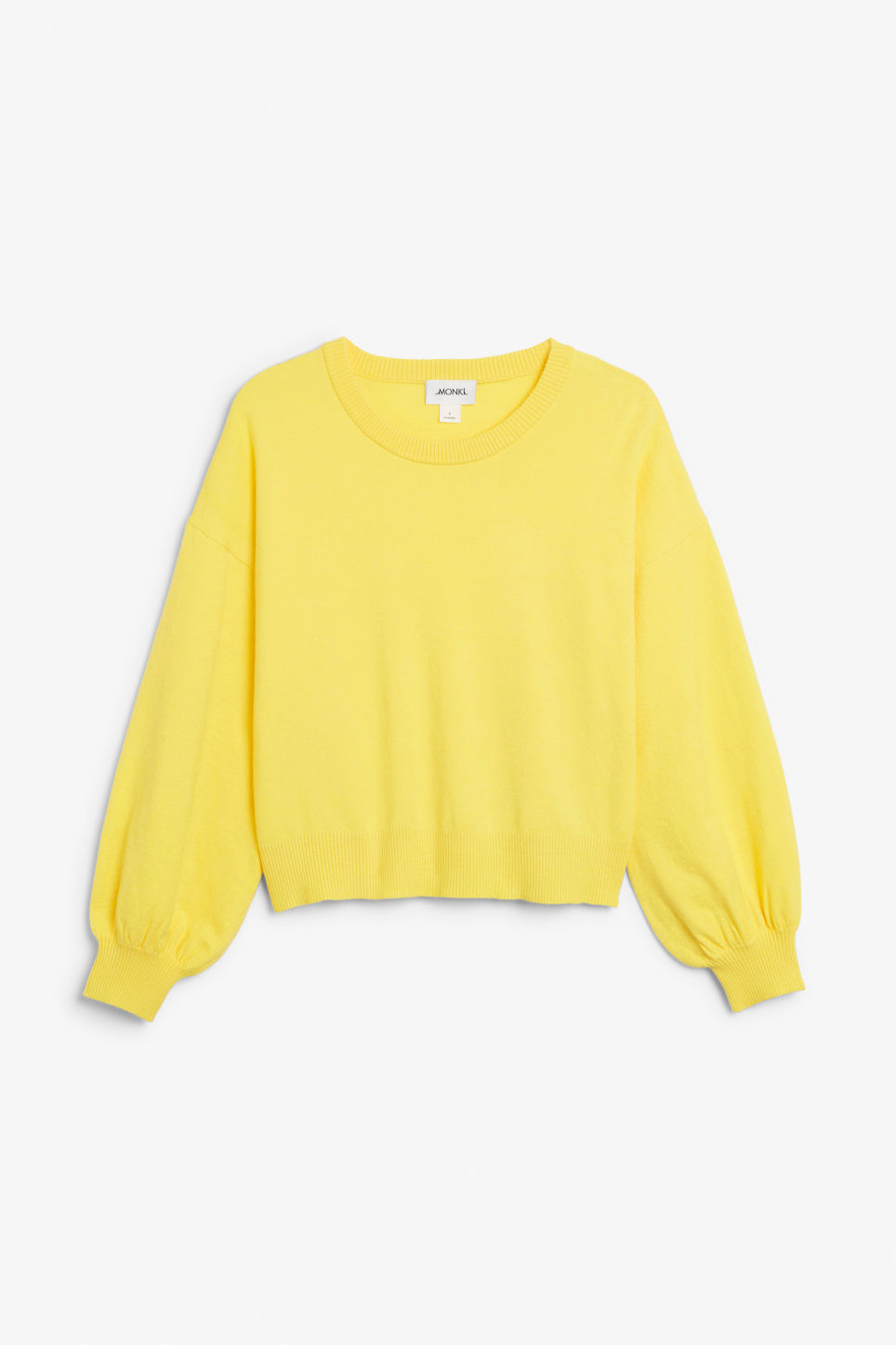 Front image of Monki knitted sweater in yellow