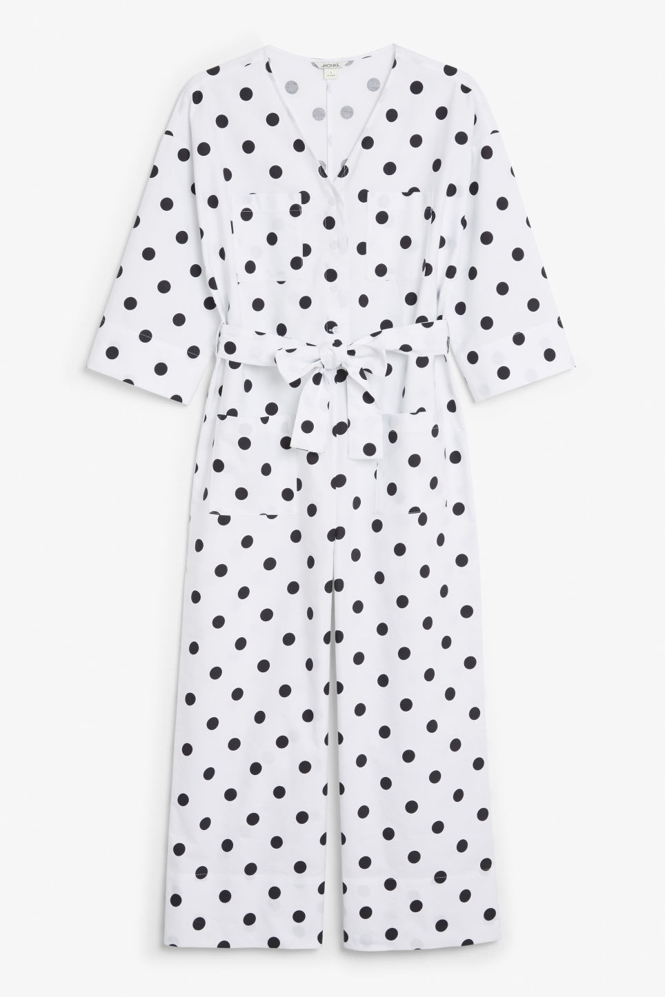 Front image of Monki v-necked jumpsuit in white