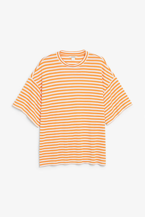 Front image of Monki oversized tee in orange