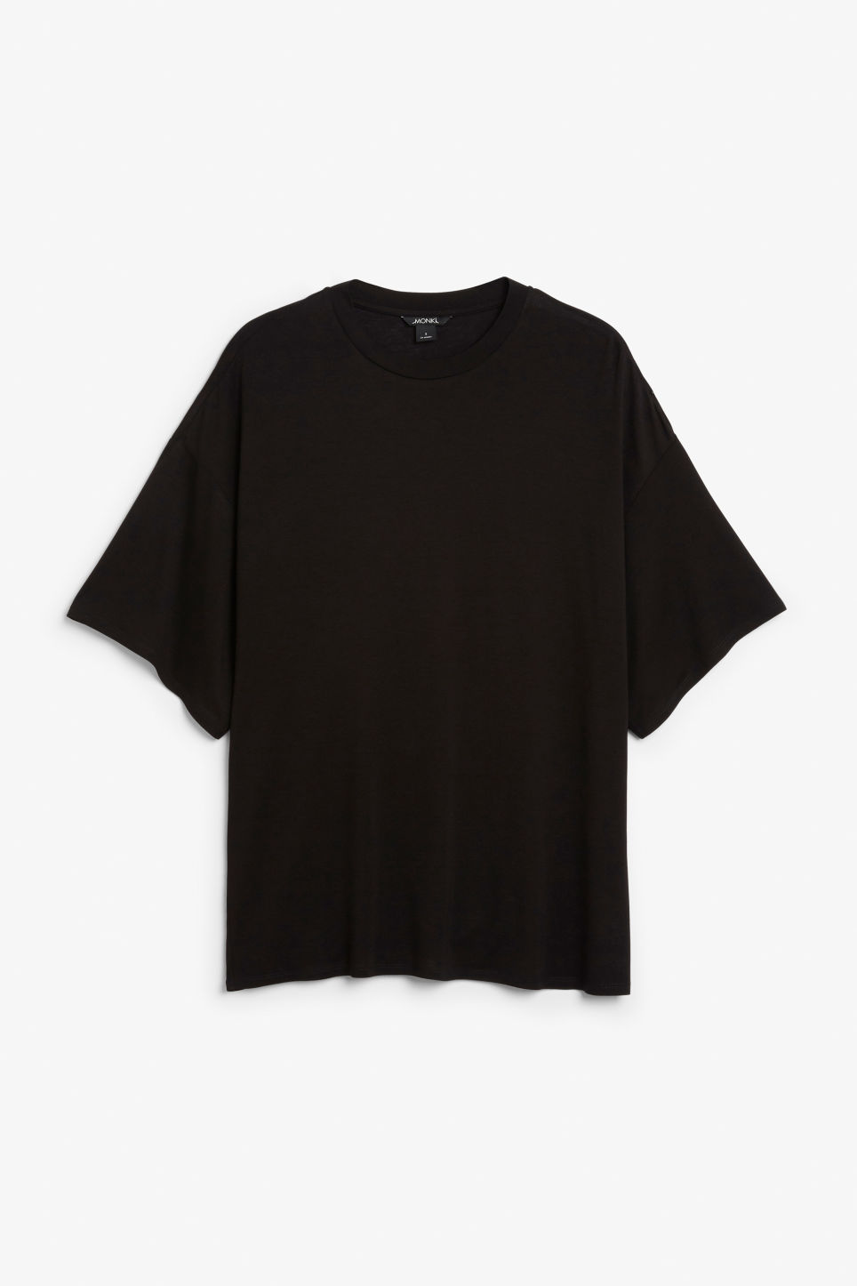 Front image of Monki oversized tee in black