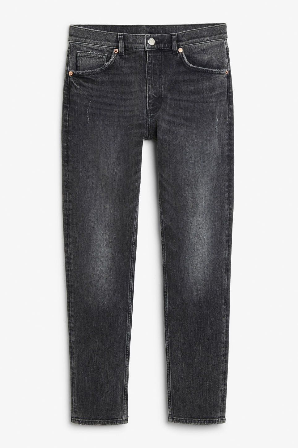 Front image of Monki moop jeans in black