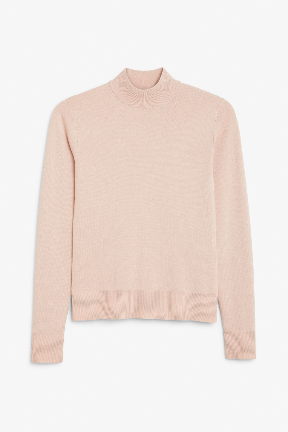 Front image of Monki long sleeved turtleneck in orange