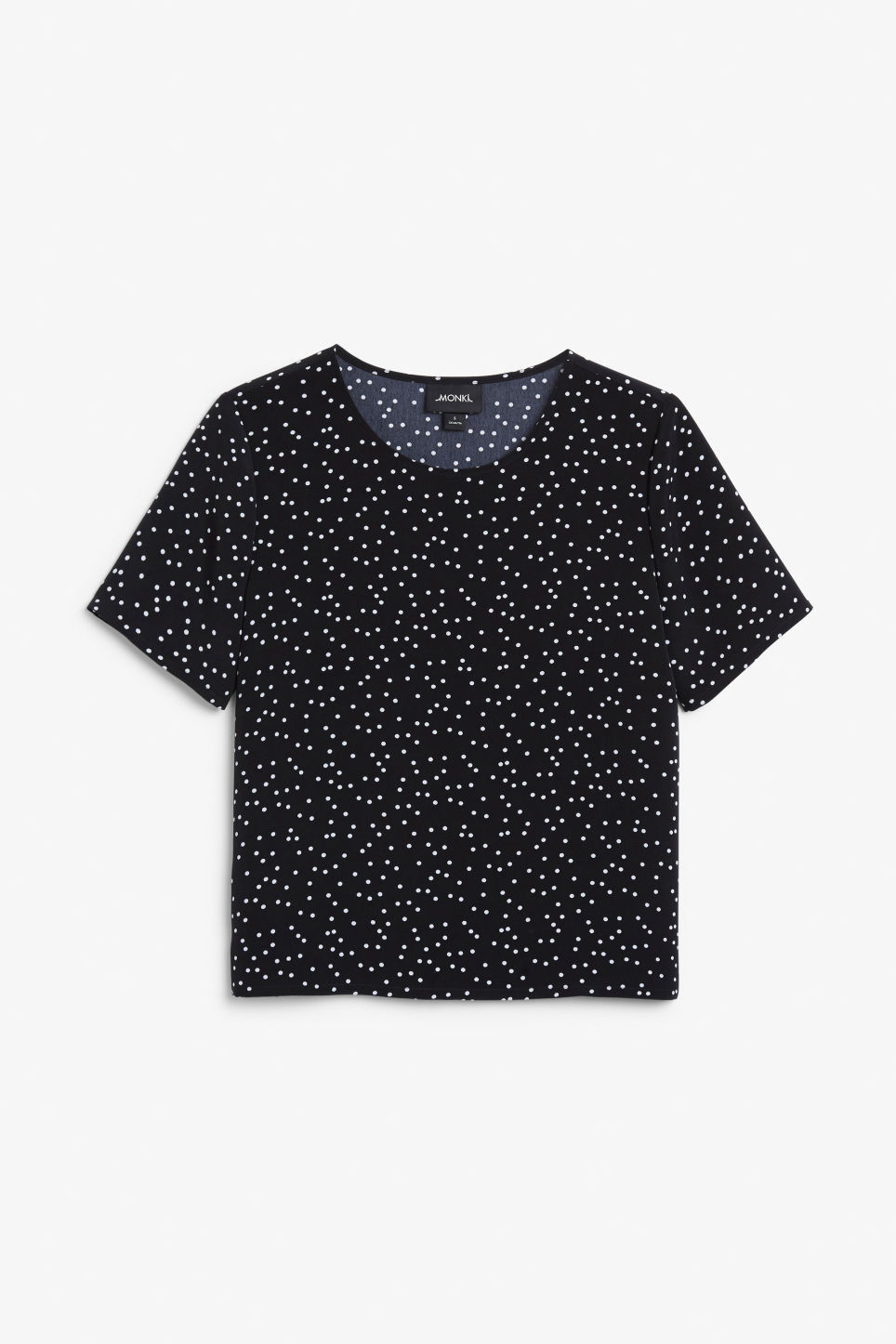Front image of Monki short-sleeved blouse in black