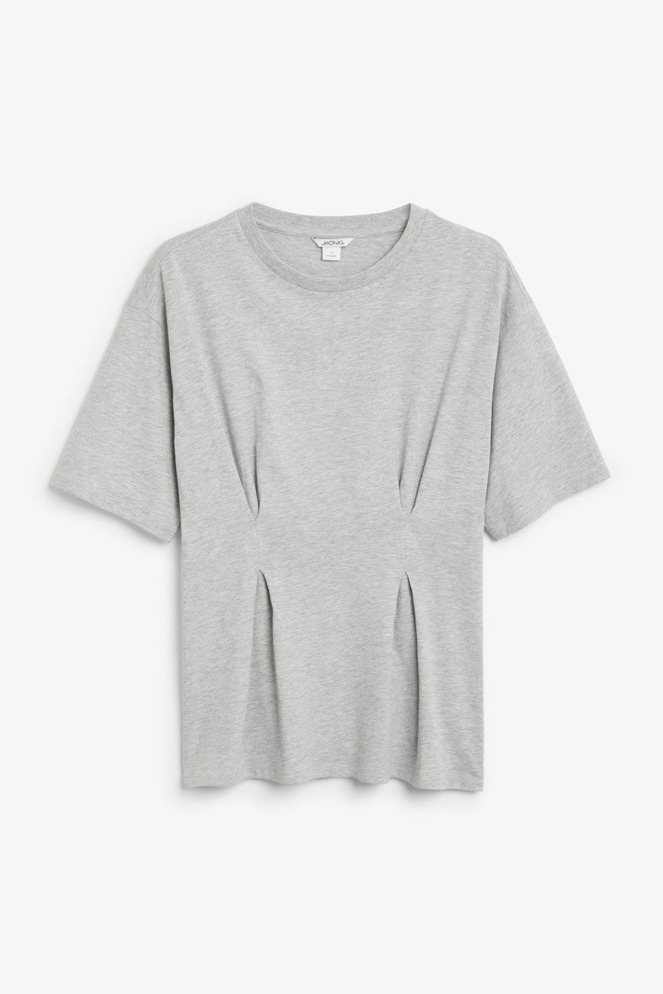 Front image of Monki oversized tee in grey