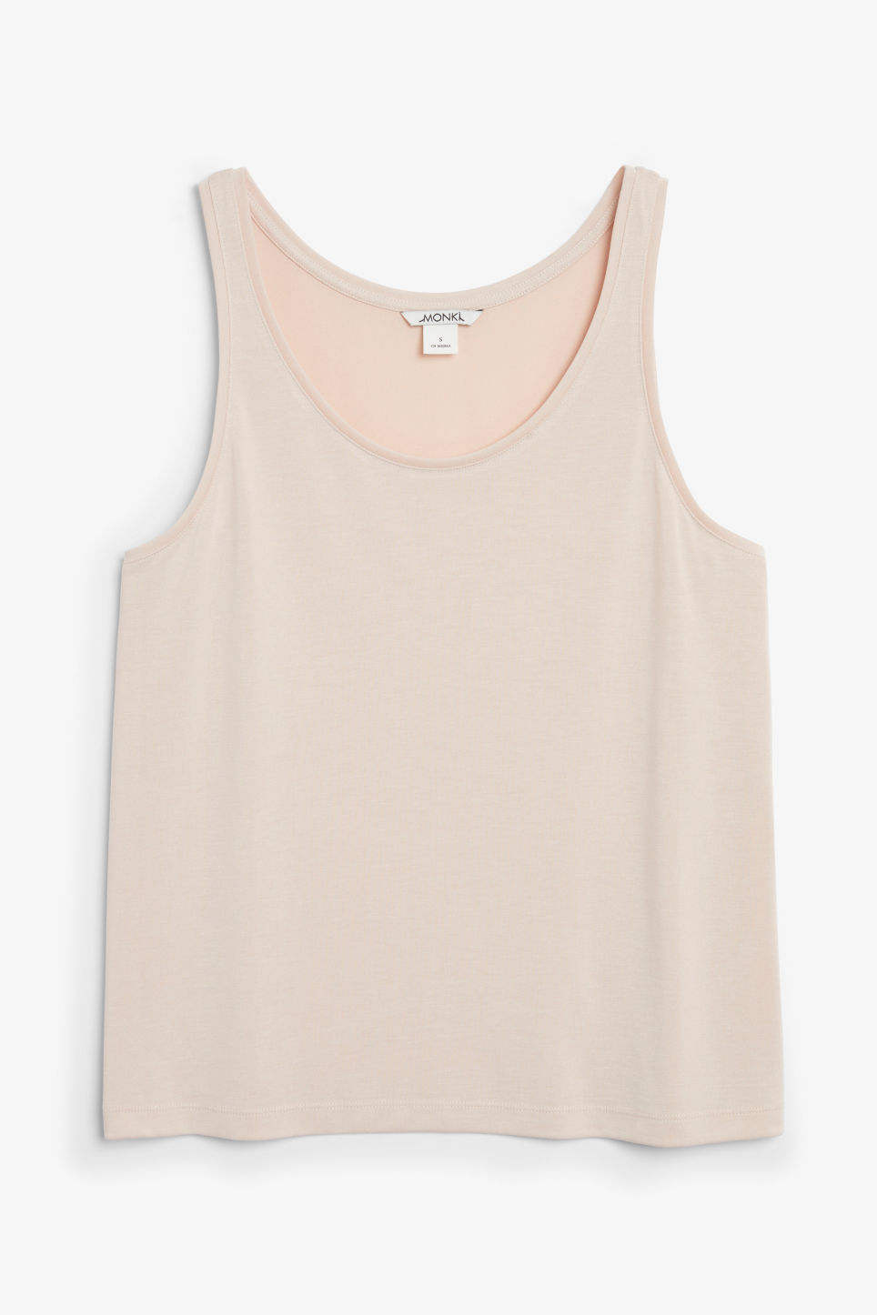 Front image of Monki super-soft singlet in orange