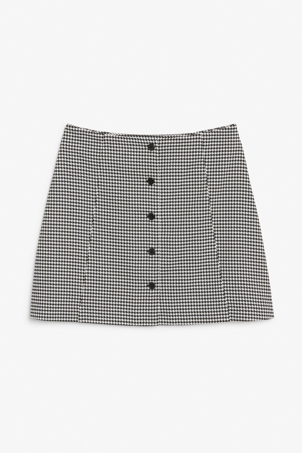Front image of Monki a-line mini skirt  in white