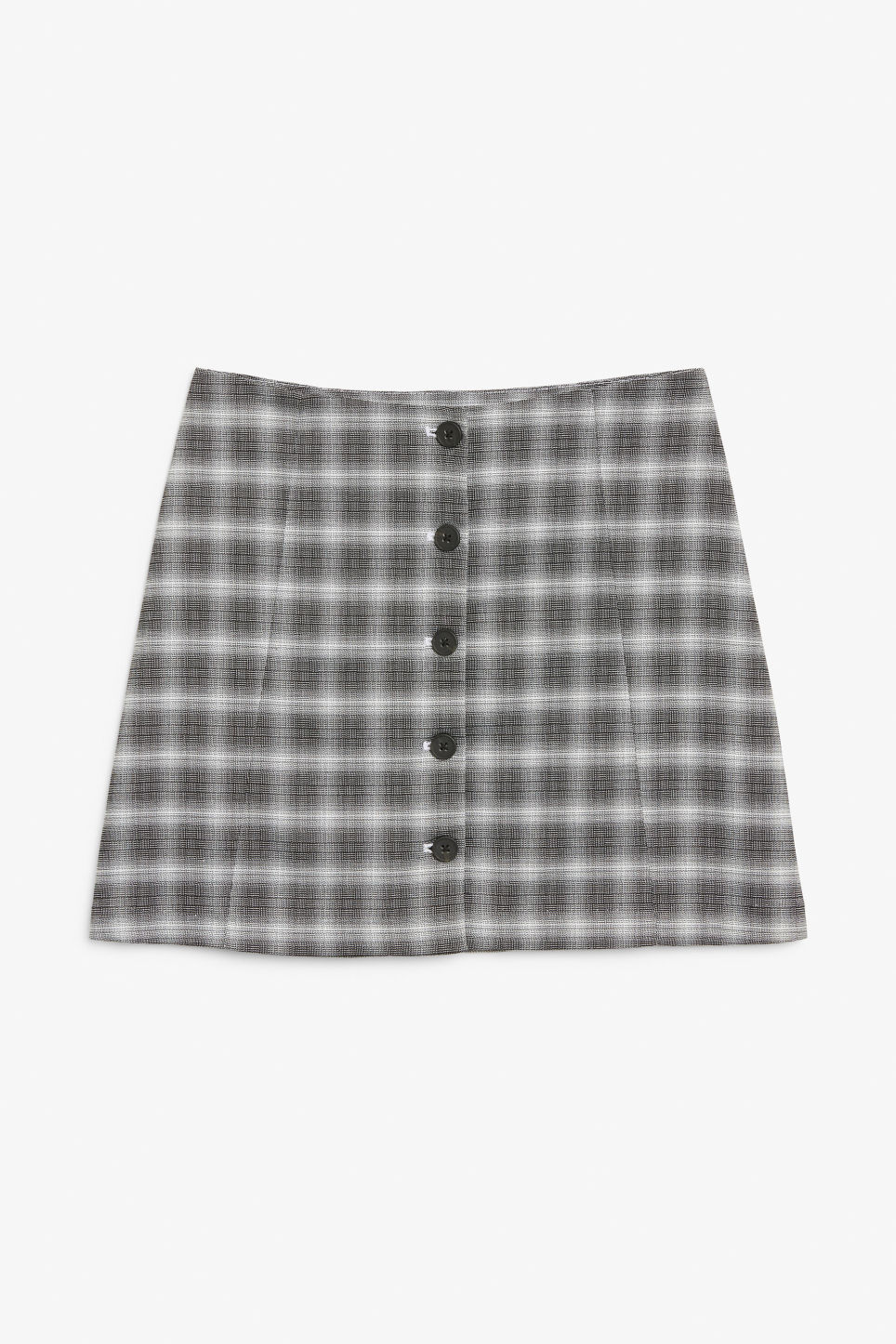 Front image of Monki a-line mini skirt  in black