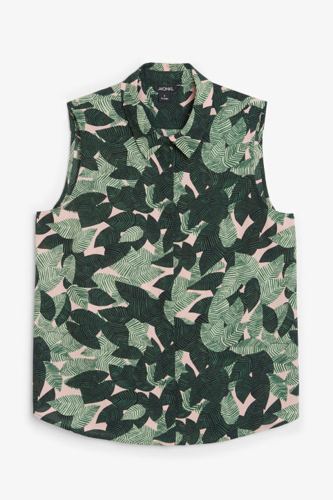 Front image of Monki sleeveless blouse in pink