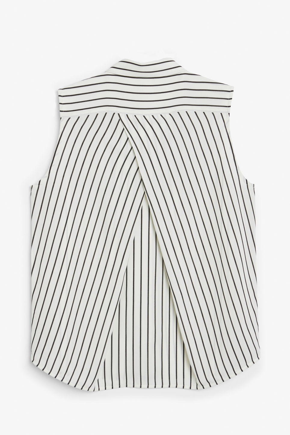Back image of Monki sleeveless blouse in white