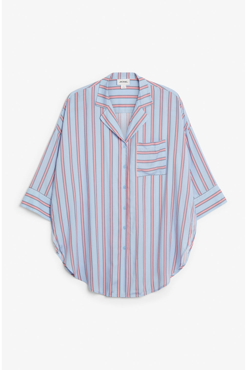 Front image of Monki pj blouse in blue