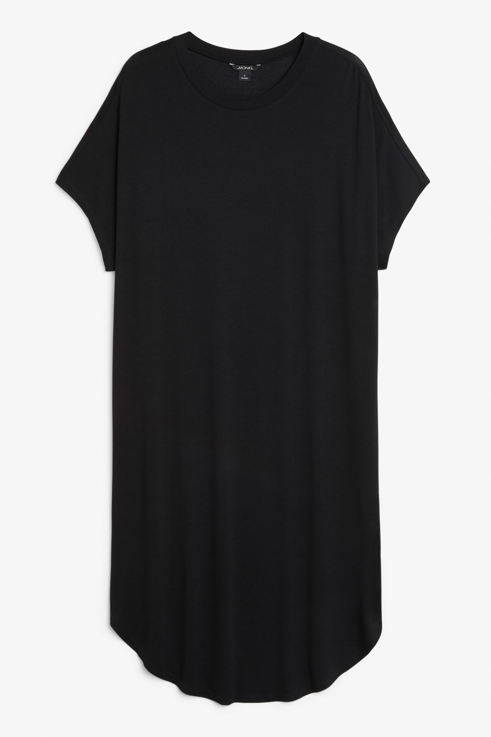 Front image of Monki oversized t-shirt dress in black