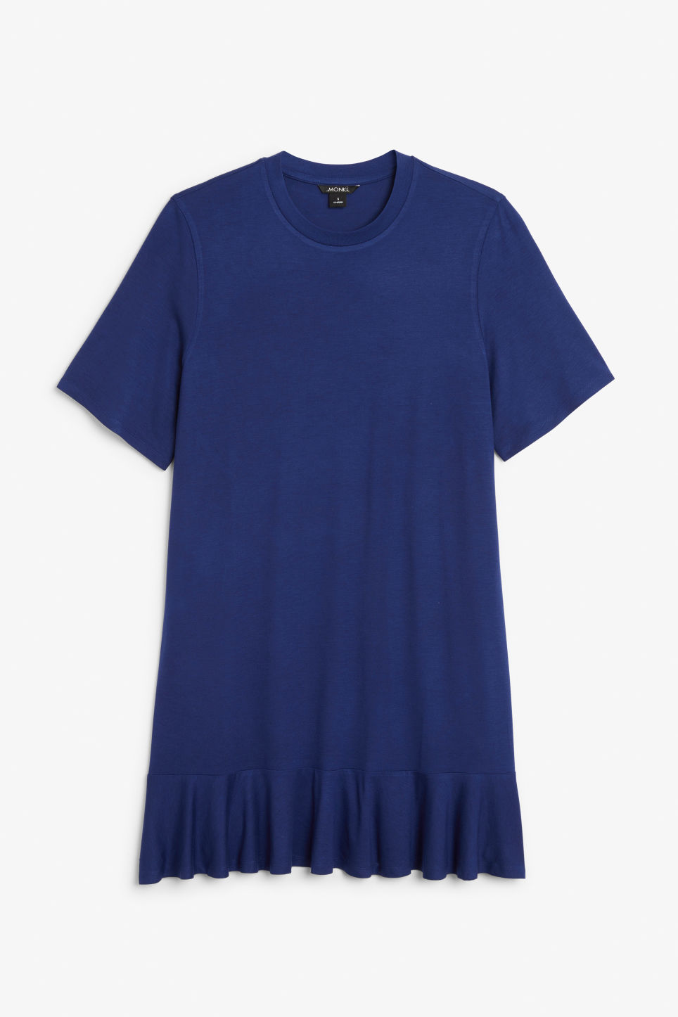 Front image of Monki t-shirt dress  in blue