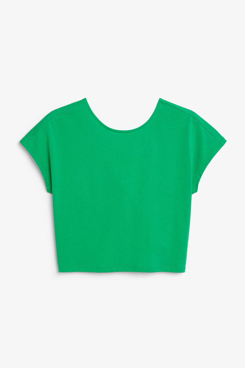 Front image of Monki cropped top in green
