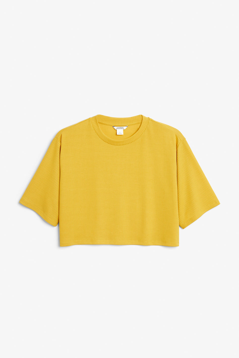Front image of Monki cropped top in yellow