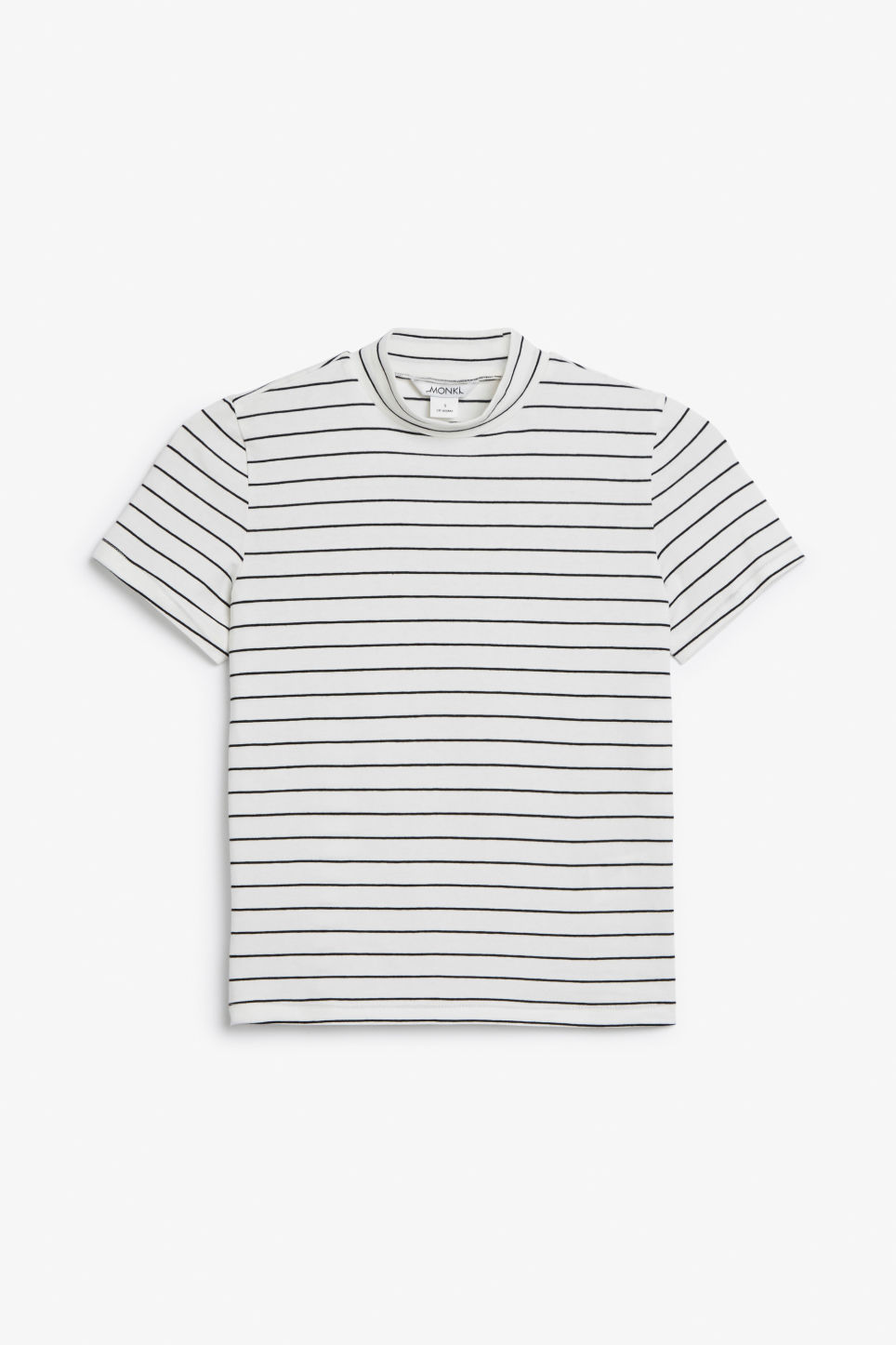 Front image of Monki short-sleeved turtleneck in white