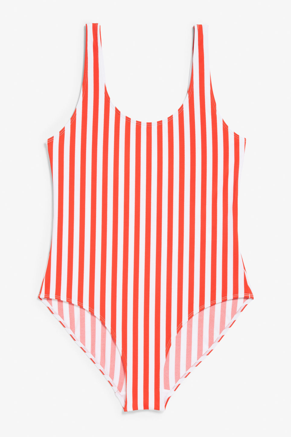 Front image of Monki classic swimsuit in red