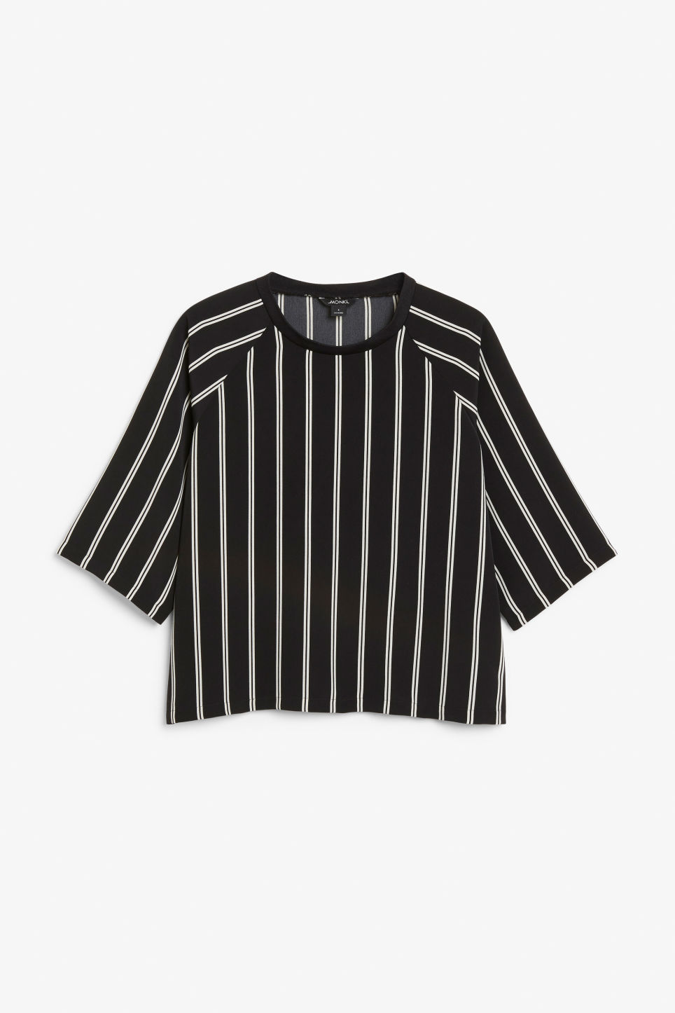 Front image of Monki sport luxe top in black