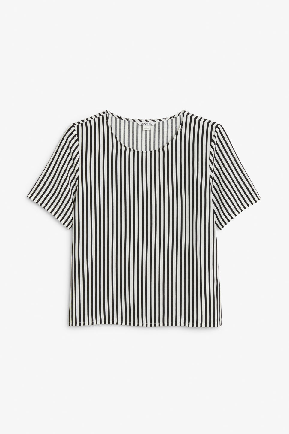 Front image of Monki short-sleeved blouse in white