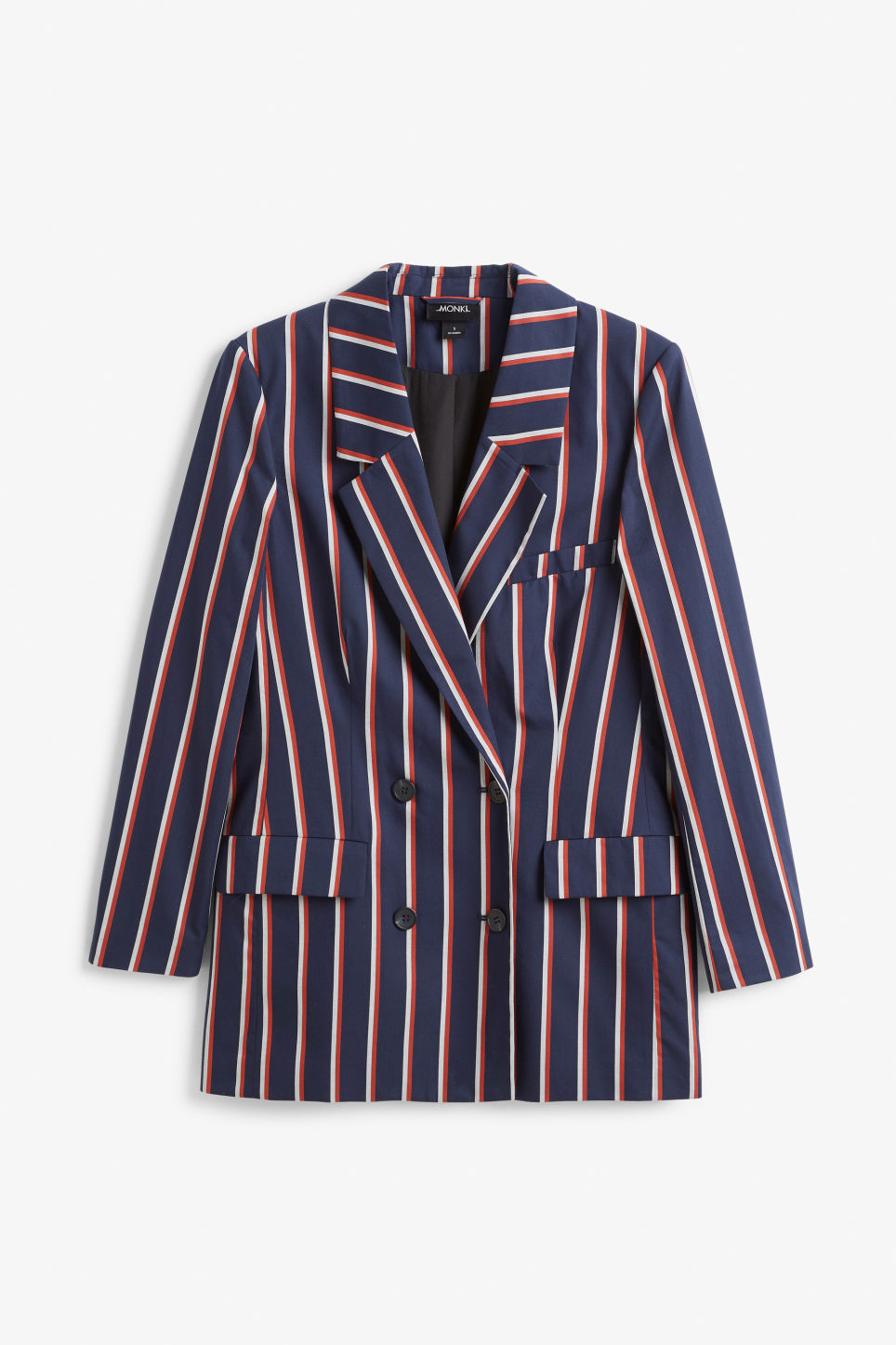 Front image of Monki double-breasted blazer in blue