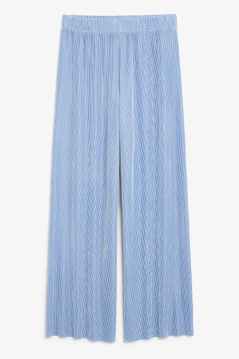 Pleated plissé trousers