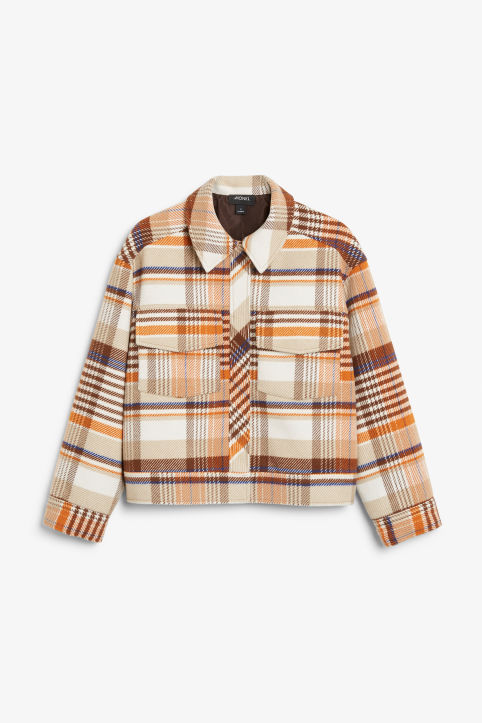 Plaid utility jacket