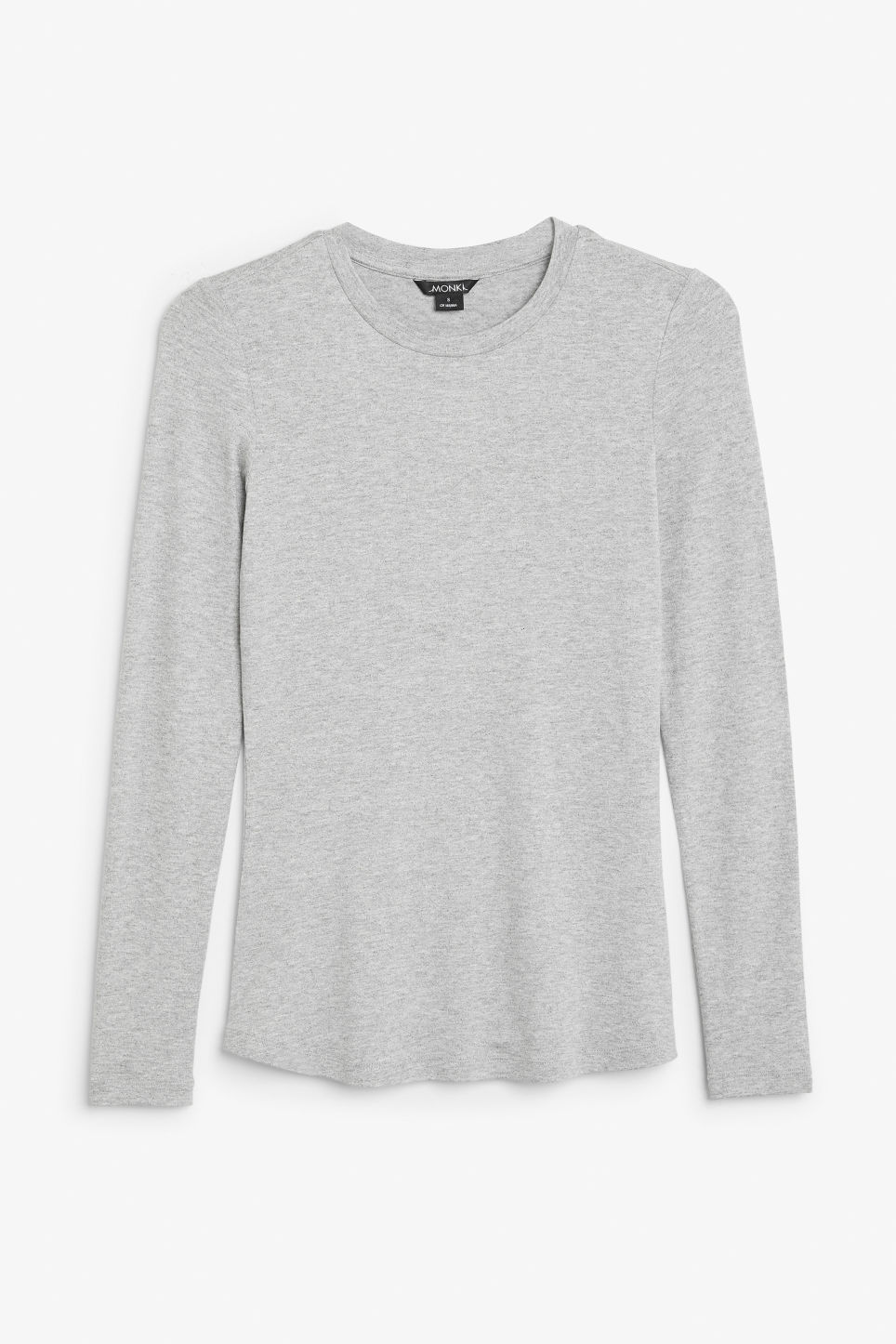 Front image of Monki long-sleeved top in grey