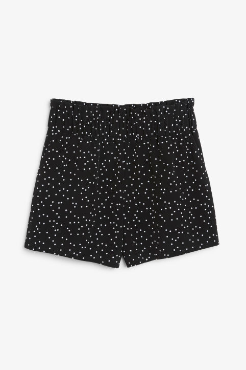 Front image of Monki flowy shorts in black