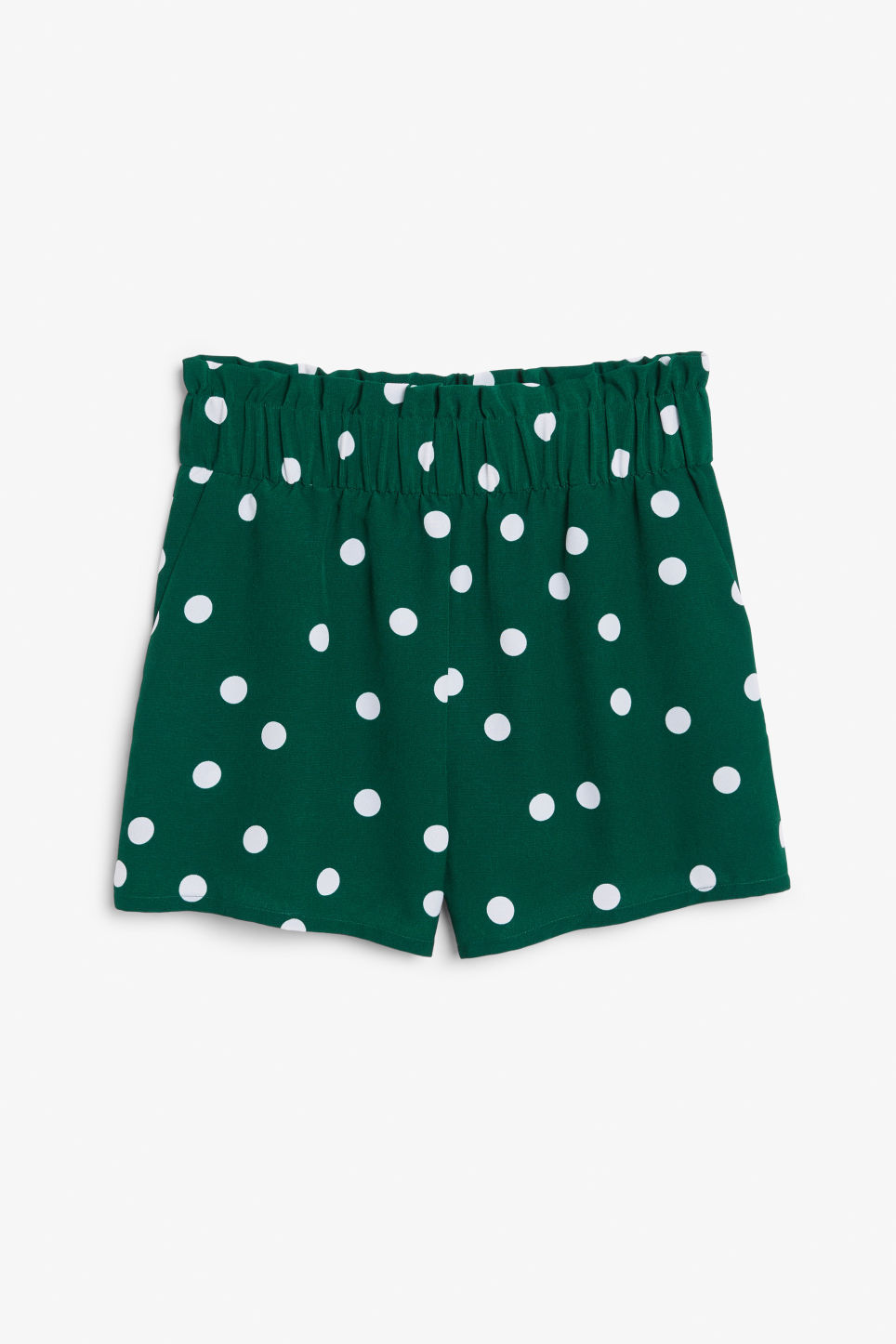 Front image of Monki flowy shorts in green