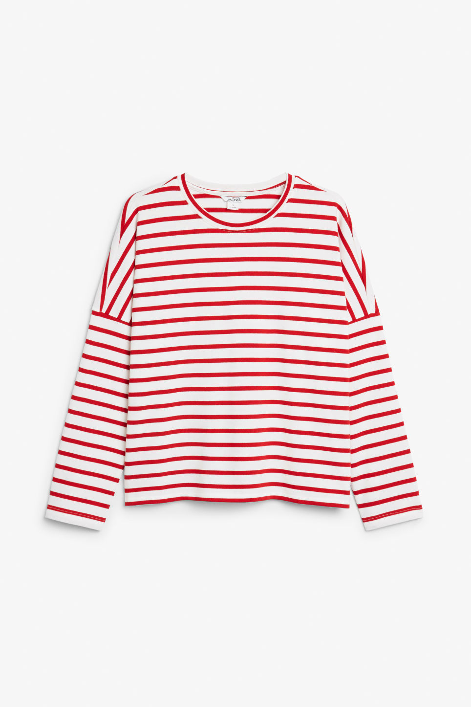 Front image of Monki oversized top in red