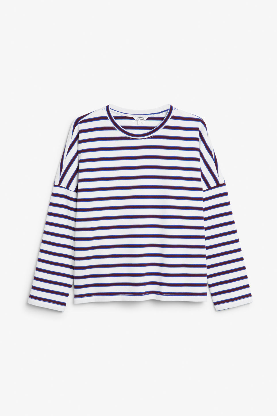 Front image of Monki oversized top in white