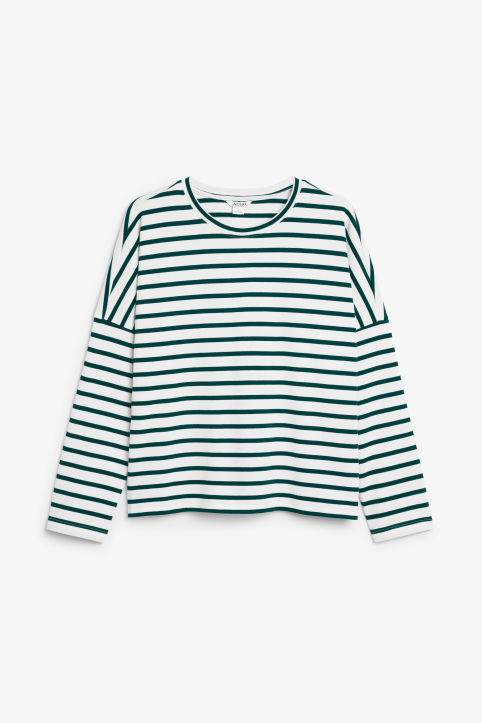 Front image of Monki oversized top in green