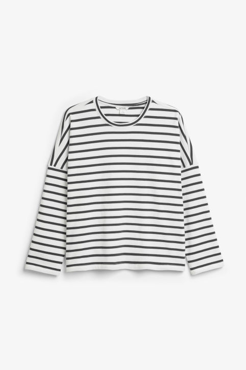 Front image of Monki oversized top in black