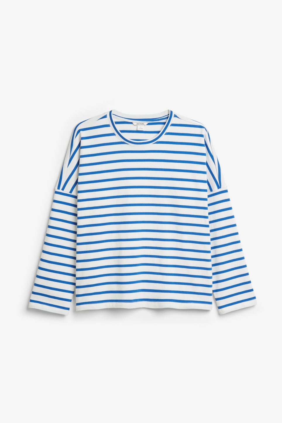 Front image of Monki oversized top in blue