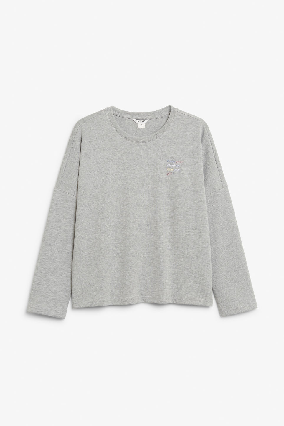 Front image of Monki oversized sweater in grey